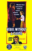 Rebel Without a Cause Bright Yellow Wall Poster