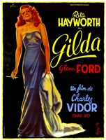 Gilda Rita Hayworth French Wall Poster