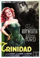Affair in Trinidad Rita Hayworth Wall Poster