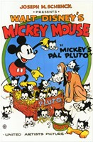 Mickey's Pal Pluto Wall Poster