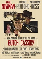 Butch Cassidy and the Sundance Kid Paul Newman Wall Poster