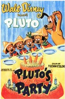 Pluto's Party Wall Poster