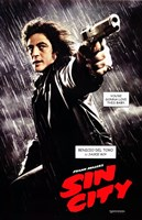 Sin City Benicio del Toro as Jackie Boy Wall Poster