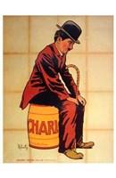 Charlie Chaplin - sitting Wall Poster