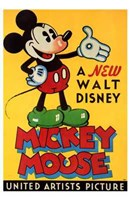 A New Walt Disney Mickey Mouse in Yellow Fine-Art Print
