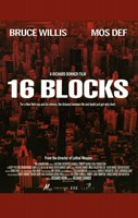 16 Blocks - red Wall Poster