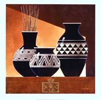 Patterns in Ebony II Framed Print