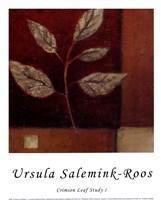 Crimson Leaf Study I Fine-Art Print