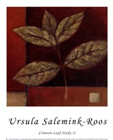 Crimson Leaf Study II Fine-Art Print