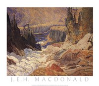Falls, Montreal River Fine-Art Print