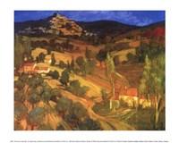 Provencal Landscape Framed Print