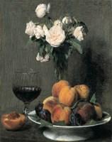 Roses Fruits Et Verre De Vin Fine-Art Print