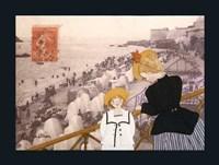 Jeanne, Sa Mere Et La Mer Fine-Art Print