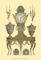 Antique Decorative Clock II Fine-Art Print