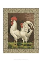 Cassell's Roosters with Border VI Fine-Art Print