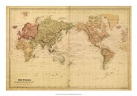 Map of the World, c.1800's (mercator projection) Fine-Art Print