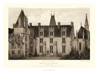 Sepia Chateaux I Giclee