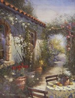 Sun Drenched Courtyard Fine-Art Print
