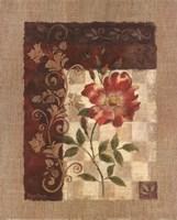Burlap Climbing Rose Fine-Art Print