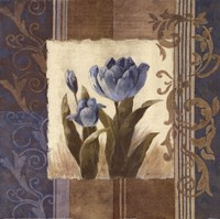 Blue Tulip Scroll Fine-Art Print