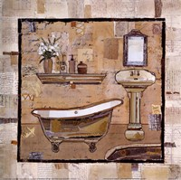 Vintage Bath Time II Fine-Art Print