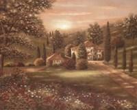 Evening in Tuscany II Fine-Art Print