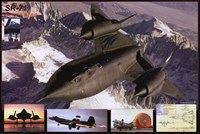 Airplane Blackbird Sr-71 Wall Poster