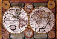 Map - Terre Universelle Fine-Art Print