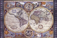 Map - Antique - New Map Of The World Fine-Art Print