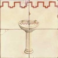 Sink with Red Design Fine-Art Print