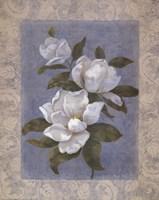 Blue Magnolias II Fine-Art Print