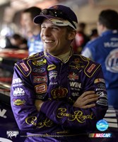 Jamie McMurray portrait with Crown Royal uniform with big grin Fine-Art Print