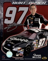 2006 Kurt Busch collage- car, number, driver and signature Fine-Art Print