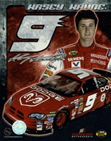 2006 Kasey Kahne collage- car, number, driver and signature Fine-Art Print