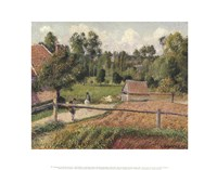 View from the Artist's Window, Eragny Fine-Art Print