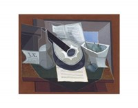 Still Life with a Guitar, 1925 Fine-Art Print