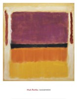 Untitled (Violet, Black, Orange, Yellow on White and Red), 1949 Fine-Art Print