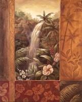 Tropical Waterfall II Fine-Art Print