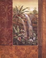 Tropical Waterfall I Fine-Art Print