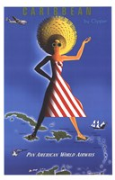 Panam Caribbean Travel Poster Fine-Art Print