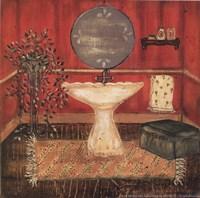 Bath in Red I Fine-Art Print