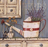 Herbs & Watering Can Fine-Art Print