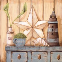 Coastal Cupboard I Fine-Art Print