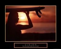 Vision - Female Surfer Fine-Art Print