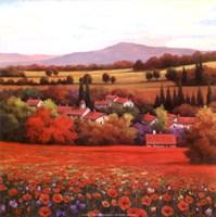Poppy Pastures II Fine-Art Print