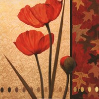 Poppy Red Damasque Fine-Art Print