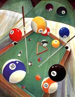Billiards II Wall Poster