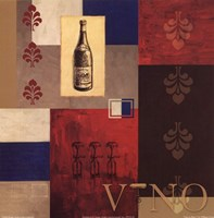 Vino in Blue I Fine-Art Print