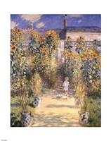 The Artist's Garden at Vetheuil with Boy, c.1880 Fine-Art Print