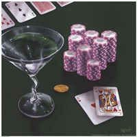 Poker Chips Big Slick Fine-Art Print